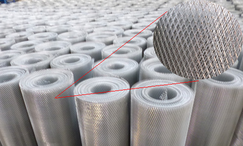 Expanded Mesh for Bridge Construction Uses